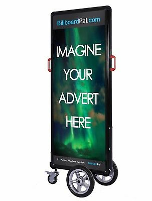 Outdoor Advertising Billboard LED Sign wheels portable