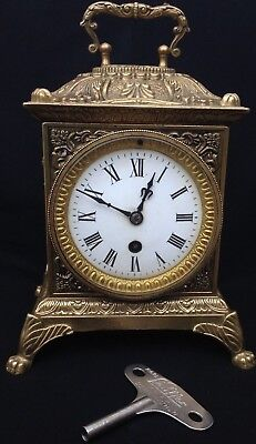 Antique Very Fine Ornate Cherubs Mantel Clock 19thC