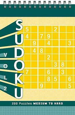 Sudoku: Volume 2: Medium to Hard by Xaq Pitkow (English) Spiral Book Free Shippi