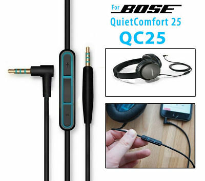 OEM original Audio Aux Cable Cord Mic For BOSE QuietComfort QC 25 35 Headphones