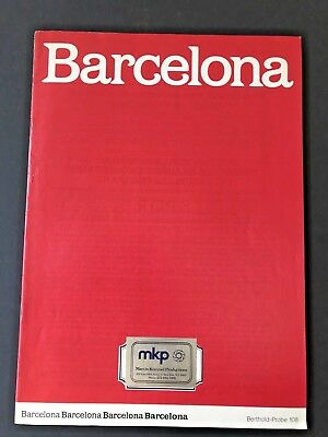 Barcelona, Type Specimen Book, Berthold Probe 108, 24 pages with covers, 1980s