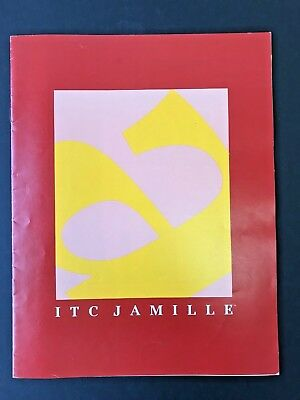 ITC Jamille, Type Specimen Book, 1988, 8 pgs with covers, 4/C covers, 1/c int