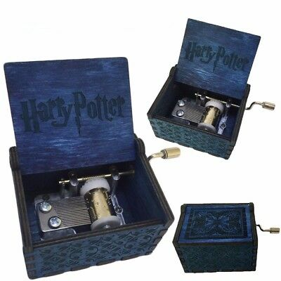 Harry Potter Engraved Wooden Music Box Hand-Cranked Interesting Toys Xmas Gifts
