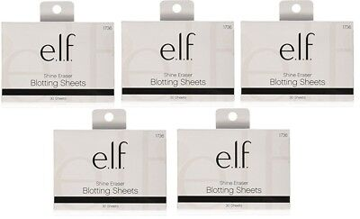 150 e.l.f. SHINE ERASER BLOTTING SHEETS 5 PACKS WITH 30 SHEETS IN EACH (1736)