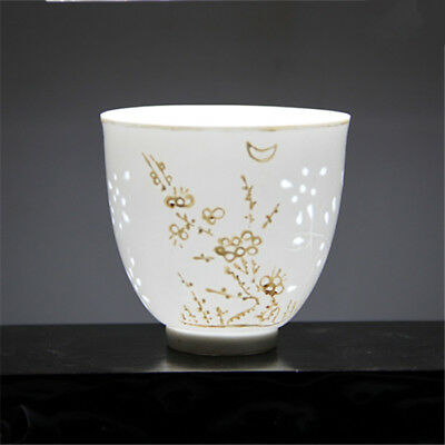 Rare Collect Old China Dynasty Thin Foetus White Porcelain Teapot Water Cup Bowl