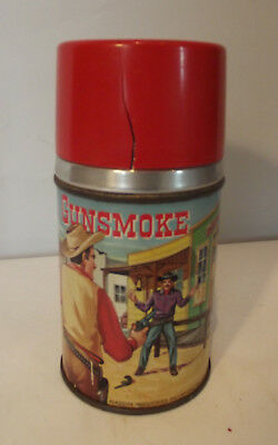 Vintage Gunsmoke Thermos Only Glass Lined 1959
