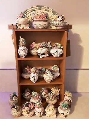 24 FRIENDS OF THE FEATHER Mini Baskets / Dried Flowers & Display Shadow Box NIB