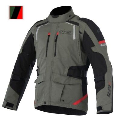 Alpinestars Andes V2 Drystar Textile Motorcycle Jacket - Military Green / Black