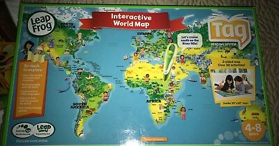 New leapfrog tag interactive world map age 4 8 double sided new leapfrog tag interactive world map age 4 8 double sided gumiabroncs Images