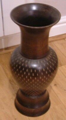 Hand Made Hard Wood Container For Artificial Flowers Or Stick Stand