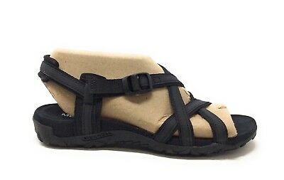 FIEL BLANCAH SANDAL WOMENS BLACK US SIZE 7M LEATHER NEW / DISPLAY