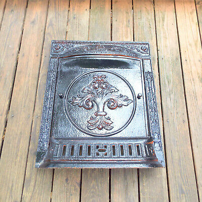 Fireplace Surround Ornate Cast Iron Antique Victorian Decor Summer Cover Fancy