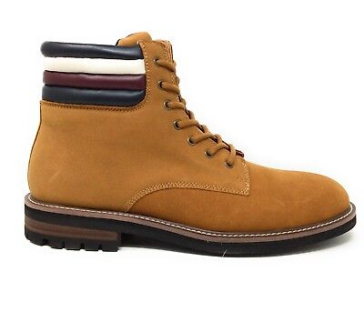 b0155a04e90c9 TOMMY HILFIGER MENS Halle Work Boot Medium Brown Leather Size 12 M ...