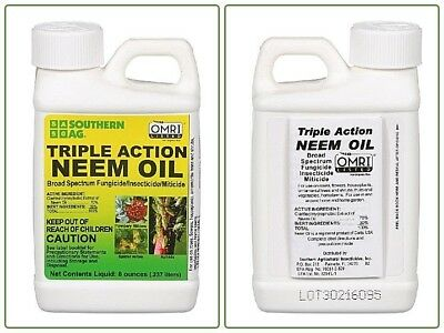 Organic Neem Oil Southern Ag Natural Triple-Action Safe Insecticide lawn care