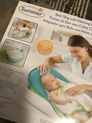 Summer Infant Bathing Tubs Seats Bath Sling with Warming Wings