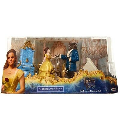 Disney - Beauty and the Beast Enchanted Live Action Figurine Set - New