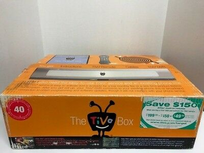 The TIVO Box 40 Hour Digital Video Recorder-Model TCD540040 New - Open Box