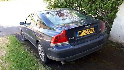 Volvo S60 2.4 D5 Saloon 2003 '53 160K MOT Sept. Starts & Runs, sold as spares