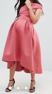 Occasion ASOS maternity dress size 10 pink berry worn once