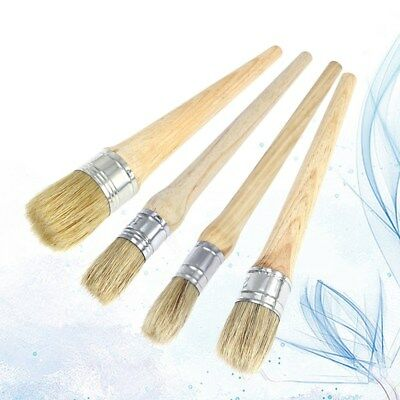 4X Chalk Paint Wax Brush Watercolour Painting Waxing Clear Oil Painting Supply
