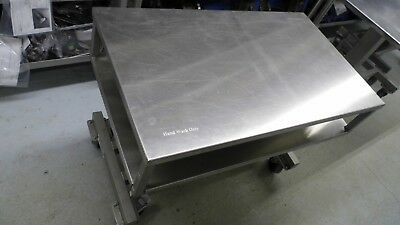 """Unidex 36"""" X 21"""" Stainless Steel 250 Lb Capacity Mobile Hydraulic Lift Table"""