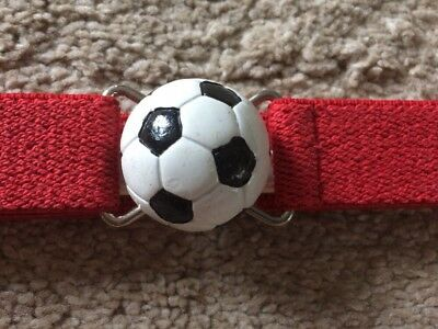 "Boutique Toddler Kids Soccer Ball Clasp Adjustable Belt Red ""Fits all Sizes"""