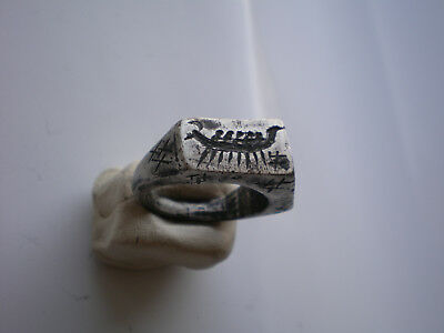 VERY RARE Antique VIKING SILVER RING 8-10AD 26.92gr