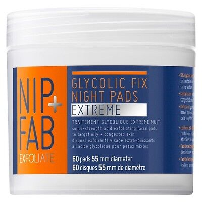 Nip + Fab Glycolic Fix Night Pads, Extreme, 60 pads
