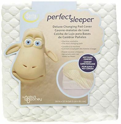 Serta Sleeper Deluxe Changing Pad Cover Soft Plush Comfort 16In X 32In White
