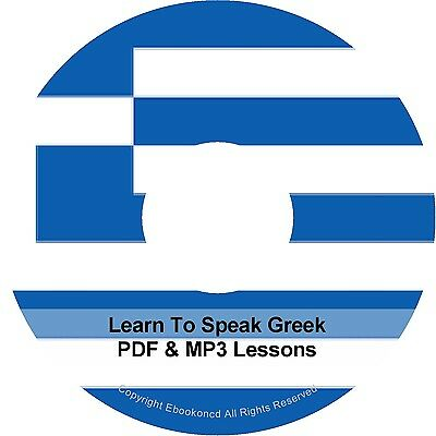 Learn To Speak Basic Greek Language Audio MP3 + EBook & MP3 Lessons on CD