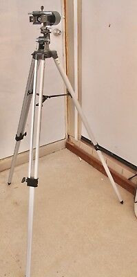 "Telescope Mount tripod FQI 59 "" about 8 lbs. Heavy.Counterweight Bat, Tray."