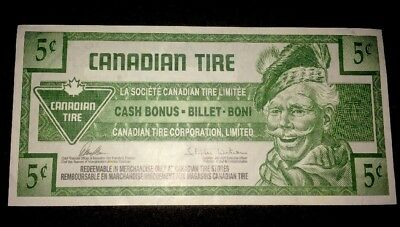 5 Cents Canada Canadian Tire Note Money Redeemable voucher