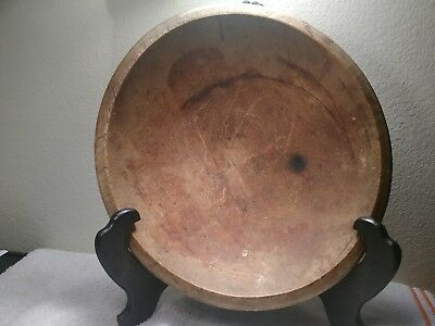 Antique wooden Maine Bowl early 19th century