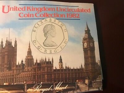 United Kingdom -- 1982 - 7 Coin Uncirculated Set in original packing