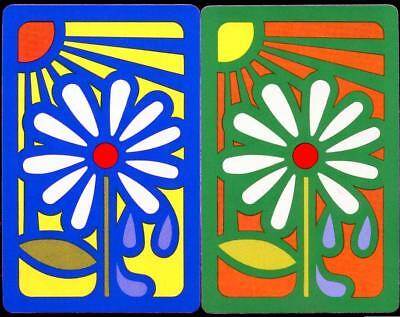Beautiful Flower Swap/ Playing Cards (Brand New) Bright Colours