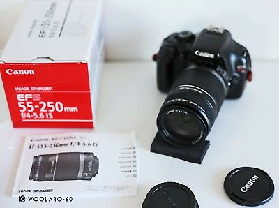 Canon EF-S 55-250mm f/4-5.6 IS / New boxed, zoom lens, excellent condition