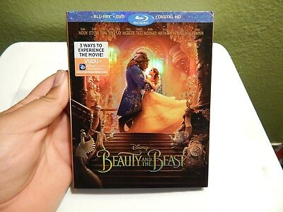 Beauty and the Beast (2017 Live Version) (Blu-ray/DVD, & Digital Copy) NEW