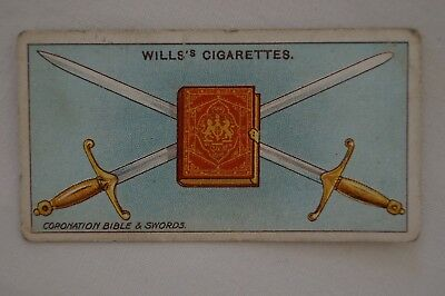 Vintage - 1911 - Wills Coronation Series Card - Coronation Bible and Sword