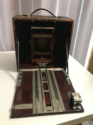 Antique Conley 5x7 dry plate, box camera & wood plates outfit ...NO LENS