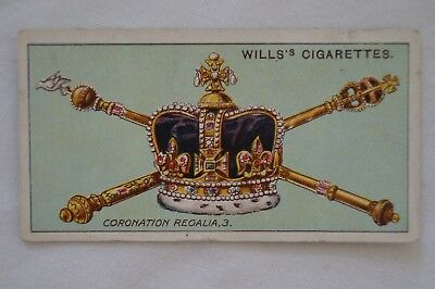 Vintage - 1911 - Wills Coronation Series Card - Coronation Regalia # 3.