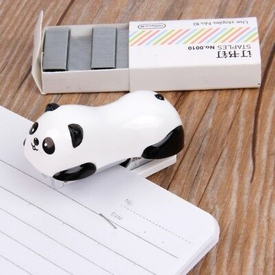 Mini Panda Stapler Set Paper Binder Within 1000pcs Staples Office School Supply
