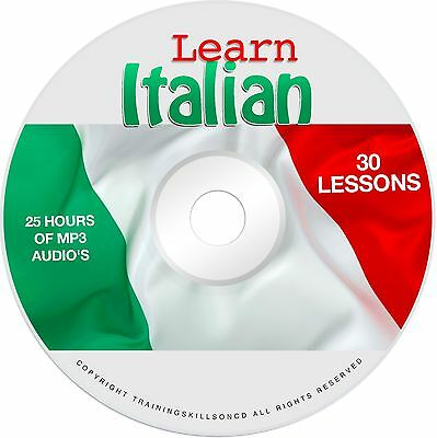 Learn To Speak Basic Italian Language Audio MP3 + EBook Lessons PDF on CD