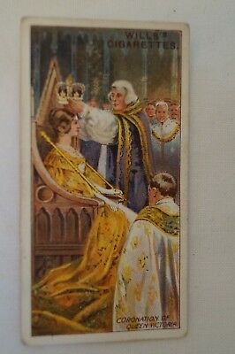 Vintage - 1911 - Wills Coronation Series Card - Coronation of Queen Victoria