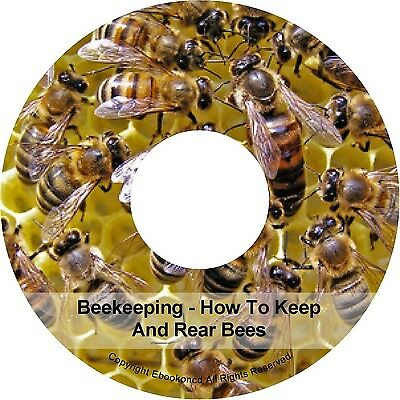 How To Keep Rear Bees Beekeeper Beekeeping Make Beehive Apiary Honey Books on CD