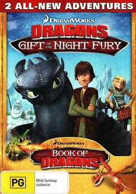 Dragons: Gift of the Night Fury / Book of Dragons  - DVD - NEW Region 4