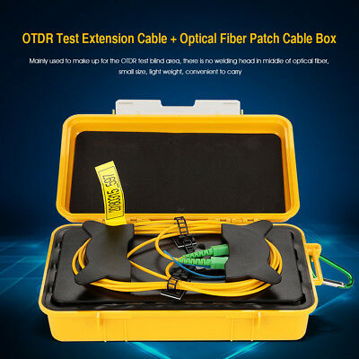 1km Singlemode OTDR Launch Cable Extension Cord Fiber Rings with Box