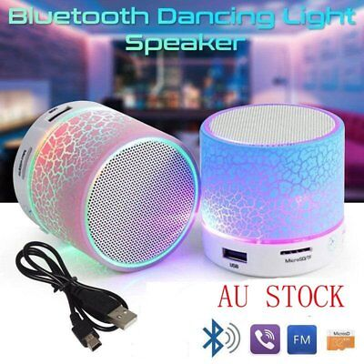 LED Portable Mini Wireless Bluetooth Super Bass Speaker Support Micro SD/TF Card
