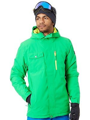 Quiksilver Kelly Green Mission Solid Snowboarding Jacket