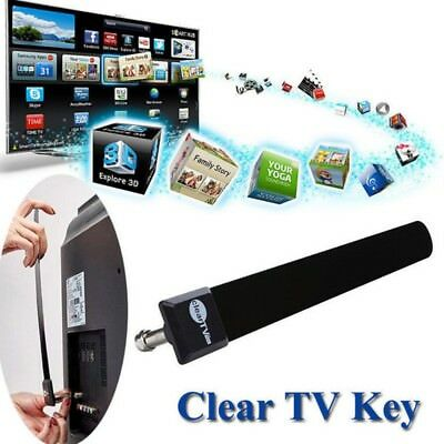 1080P HDTV Clear TV Key FREE TV Digital Indoor Antenna Ditch Cable Seen on TV-