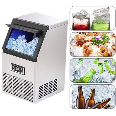 Ice Machine 220v 40kg Auto Commercial Maker Cube Icemaker Making
